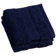 Signature Zero Twist Face Cloth 3pk - Navy