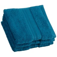 Signature Zero Twist Face Cloth 3pk - Teal