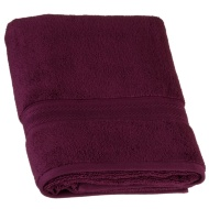 Signature Zero Twist Bath Towel - Plum