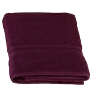 Signature Zero Twist Bath Sheet - Plum