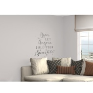 Glitter Wall Sticker - Never Let Anyone Dull Your Sparkle - Silver