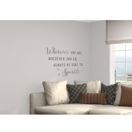 Glitter Wall Sticker - Always Be Sure To Sparkle - Silver