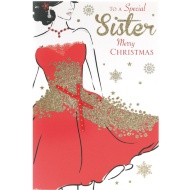 Special Sister - Christmas Card