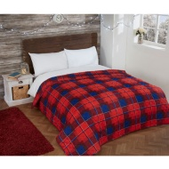 Brushed Cotton Check Bedspread