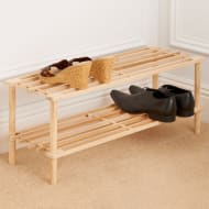 Addis 2 Tier Wooden Shoe Rack
