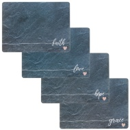 Stylish Placemats 4pk - Slate