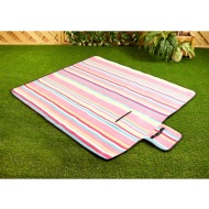 Fleece Picnic Blanket - Colour Stripe