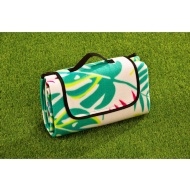 Fleece Picnic Blanket - Tropical Leaf