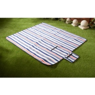 Fleece Picnic Blanket 130 x 150cm - Navy Stripe