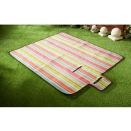 Fleece Picnic Blanket 130 x 150cm - Bright Stripe