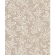 Crown Calico Leaf Wallpaper - Hessian
