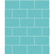 Crown Contour Glitter Brick Wallpaper - Aqua