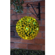 Solar Topiary Ball 28cm - Yellow