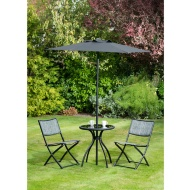 Seville Bistro Set with Parasol 4pc