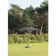 Crank Handle Parasol 2.7m - Black