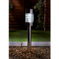 Signature Solar XL Premium Glass Crystal Top Post Light