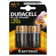 Duracell Plus Power AA Batteries 6pk