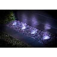 Stainless Steel Ground Lights 4pk
