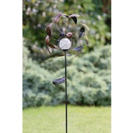 2-in-1 Metal Windmill & Solar Light Stake