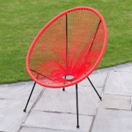 String Moon Chair - Coral