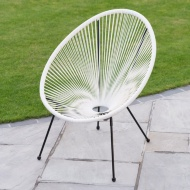 String Moon Chair - White