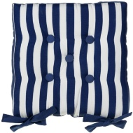Luxury Seat Pad - Blue & White Stripes