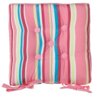 Luxury Seat Pad - Pink Stripes
