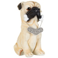 Welcome Dog Garden Statue - Pug