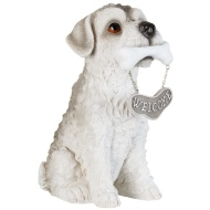 Welcome Dog Garden Statue - Terrier