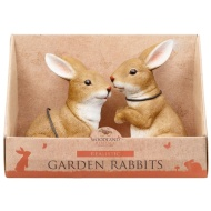 Garden Rabbit Ornaments 2pk - Realistic