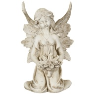 Sitting Fairy with Flower Ornament