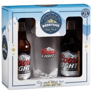 Coors Light 2 x 330ml & Glass Gift Set