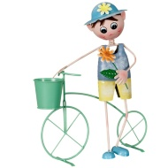 Dancing Boy with Bicycle Planter