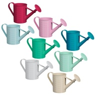 Ribbed Watering Can Decorative Planter