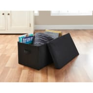 Jumbo Storage Box with Lid - Black