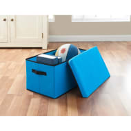Jumbo Storage Box with Lid - Turquoise