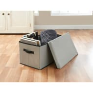 Jumbo Storage Box with Lid - Grey