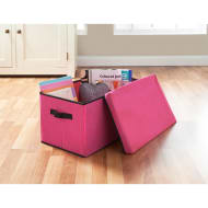 Jumbo Storage Box with Lid - Pink