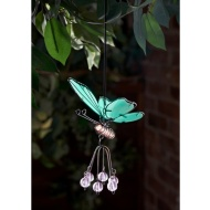 Springy Glow in the Dark Butterfly Hangers - Clear