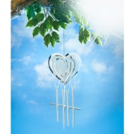 Shiny Metal Wind Spinner & Wind Chime 2-in-1