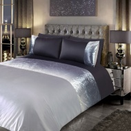 Ombre Crushed Velvet Double Duvet Set