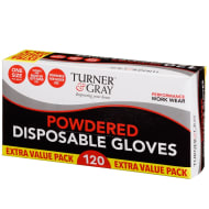 Turner & Gray Powdered Disposable Gloves 120pk
