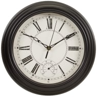 Traditional Lincoln Wall Clock - Black