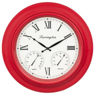 Weather Station Clock - Red