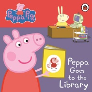 Peppa Pig Board Book - Peppa Goes to the Library
