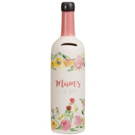 Wine Bottle Money Bank - Mum's Wine Fund