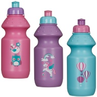Children's Pull Top Sports Bottles 12oz 3pk