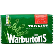 Warburtons Thickest White Bread 800g