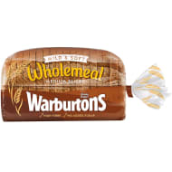 Warburtons Medium Wholemeal Bread 800g