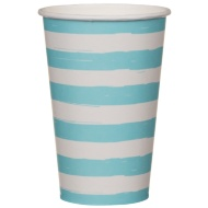 Paper Cups 20pk - Blue Stripes